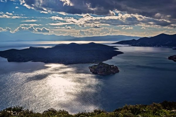 View to the island of Spinalonga