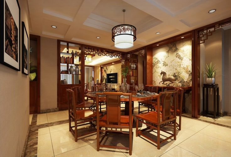 Image gallery oriental dining room designs for Asian dining room ideas