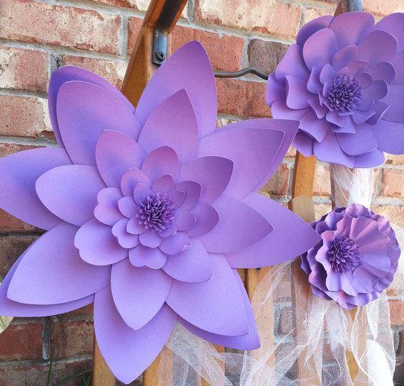 Bodas flores de papel grandes en los colores de su por mcfunk90
