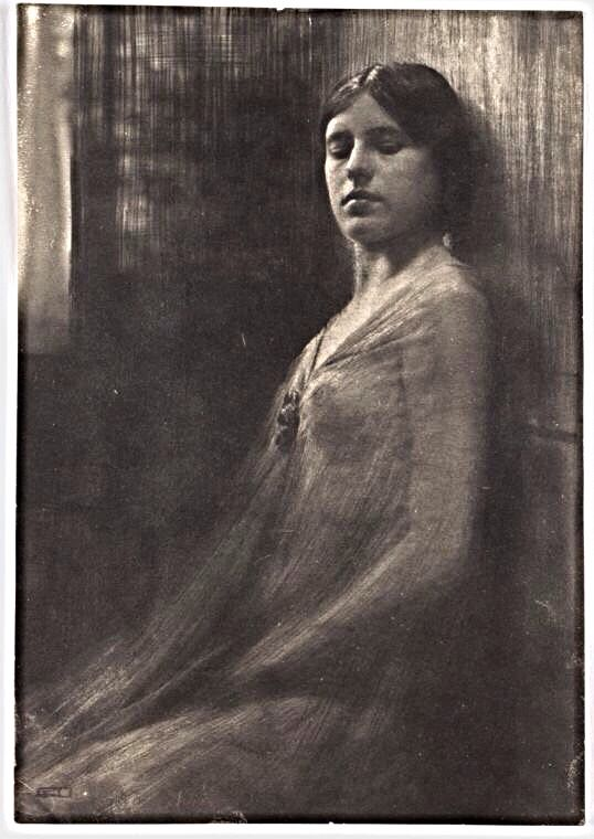 Figure Study from an Etched Negative, 1906, Robert Demachy. French Pictorial photographer, (1859–1936)
