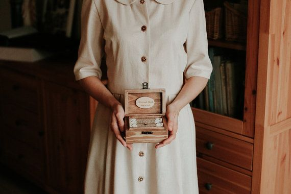 Personalized wedding ring box. Wooden ring by collectivemade