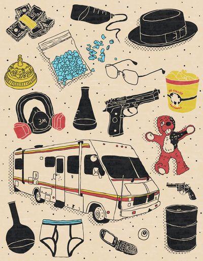 Artifacts: Breaking Bad Art Print By Josh Ln