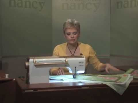 Nancy shows you tips for no-hassle free motion quilting. http://www.nancysnotions.com/category/video+demos/free+motion+quilting.do?extid=YT00036