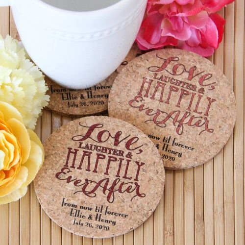 Personalized Cork Coasters by Beau-coup