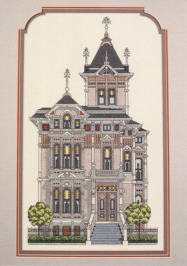 Schema punto croce Westerfeld House 01