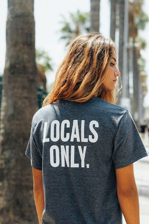 Locals only. cute graphic tee shirt