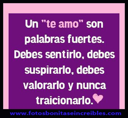 1000 images about frases bonitas on pinterest no se for Te amo facebook
