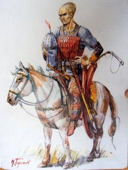 Hun warrior by M. V. Gorelik
