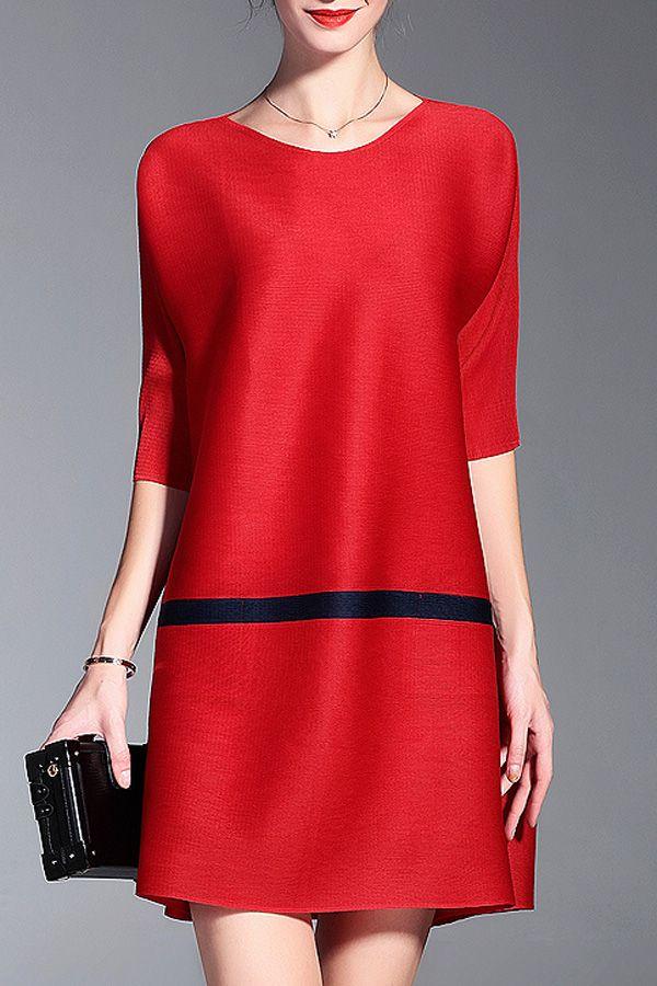 Loose Pleated A Line Dress