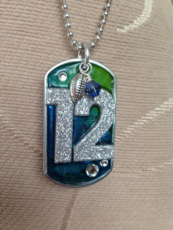 12th Man Dogtag, sports jewelry, super bowl jewelry, seattle, seahawks, football, boom, 12th man, fan, sports gifts, nfl champions