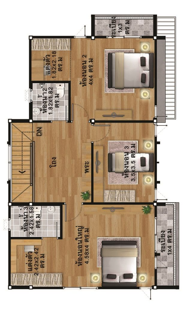 House Design Plans Idea 12 X7 With 3 Bedrooms Home Ideassearch Home Design Plans Bedroom House Plans House Design