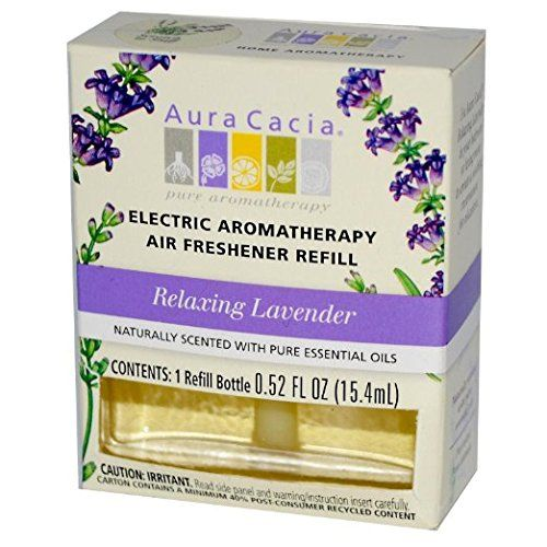 Aura Cacia EleCTric Aromatherapy Air Freshener Refill Relaxing Lavender - 0.47 Oz 6 pack