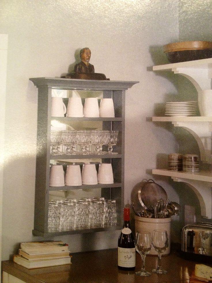 Shallow coffee cup storage