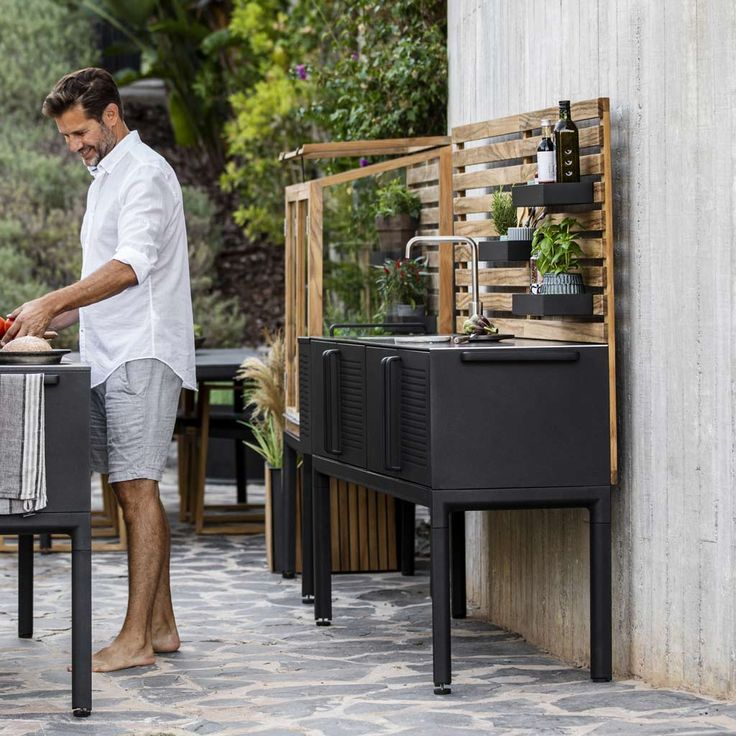 drop outdoor kitchen island by cane line luxury garden furniture in 2020 outdoor kitchen on outdoor kitchen island id=98619
