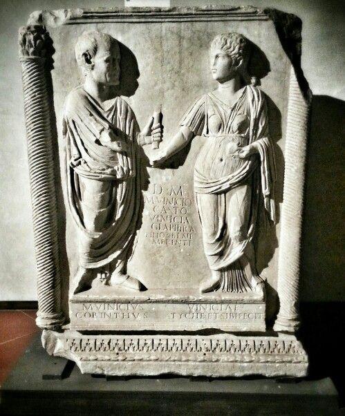 Altare funerario romano con scena di matrimonio Firenze, museo archeologico nazionale