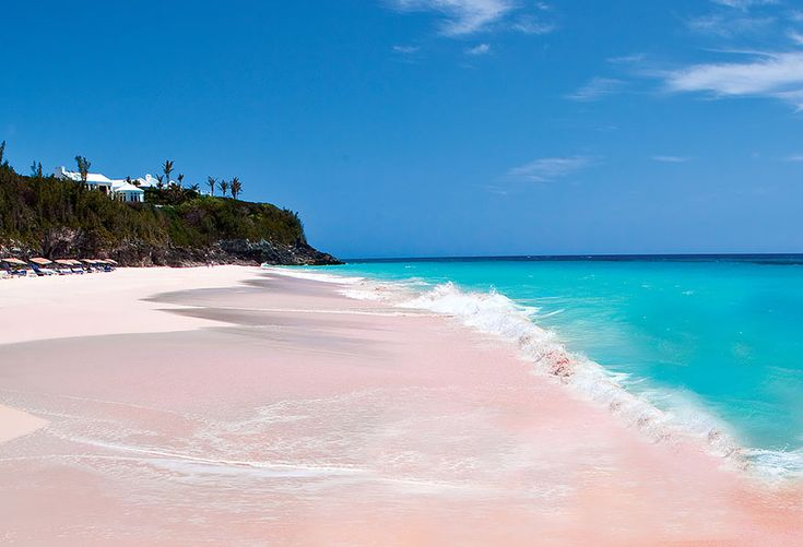 Pink Beach in Bahamas