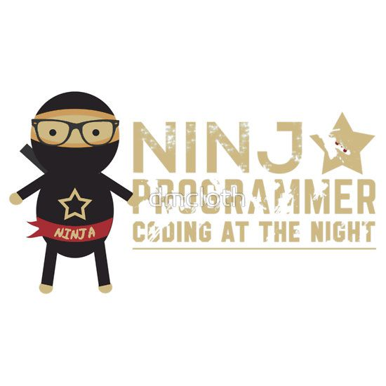 Programmer T-shirt : Ninja programmer. coding at the night