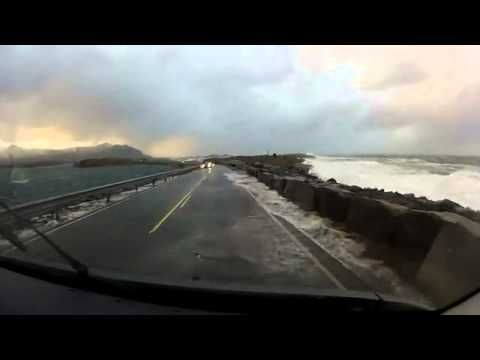 Dangerous! Norway's Atlantic Ocean Road - this is incredible! Does anyone know where in Norway this road is?
