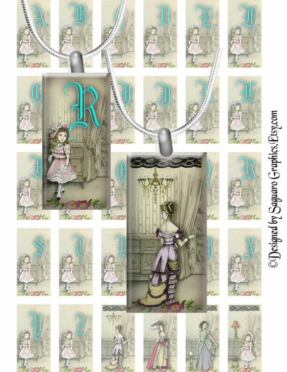 EDWARDIAN GOTHIC  1x2 inch Domino Style  by SaguaroGraphics, $3.75