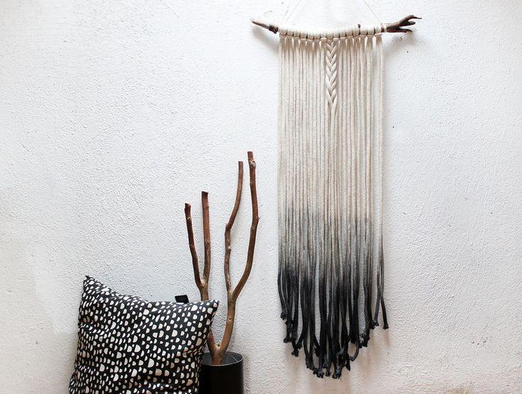 Die besten 25 makramee wandbehang ideen auf pinterest wandbeh nge h keln wandteppich und - Makramee wandbehang ...