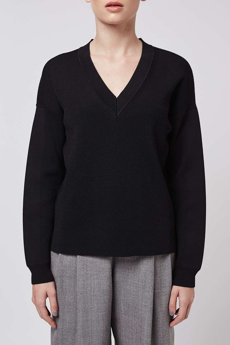 V-Neck Jumper by Boutique - Topshop
