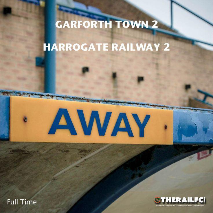 FT: Garforth Town 2-2 Harrogate Railway    @therailfc @TheGarforthTown @Howell_rm