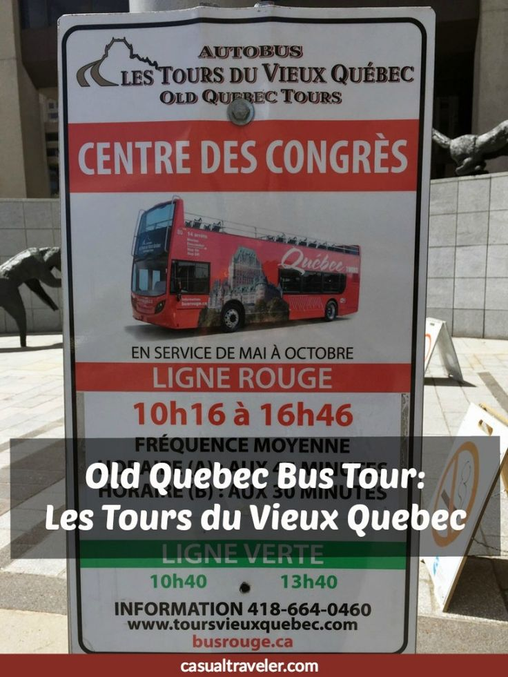 Review of the Old Quebec Bus Tour: Les Tours du Vieux Quebec, by Casual Travelers. Among the places you get to see are: Québec City Gare du Palais (Central Station), Benjo Toy Store, Grande Allée Est, Battlefield Park or the Plains of Abraham, and other places in the beautiful Quebec City.