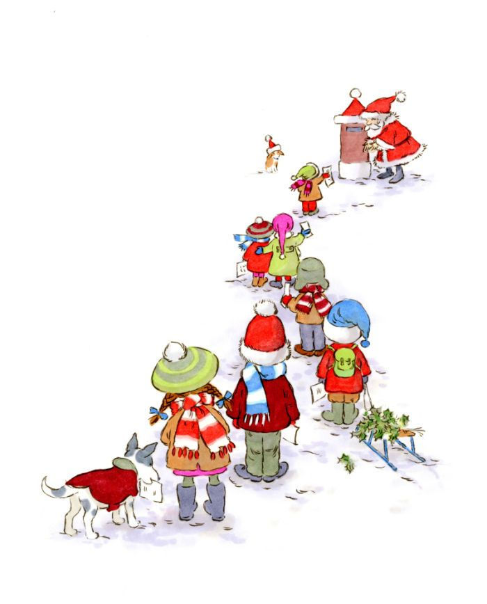 792 Best Christmas Illustrations Images On Pinterest