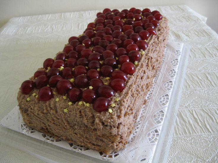 Cherry rum chocolate cake
