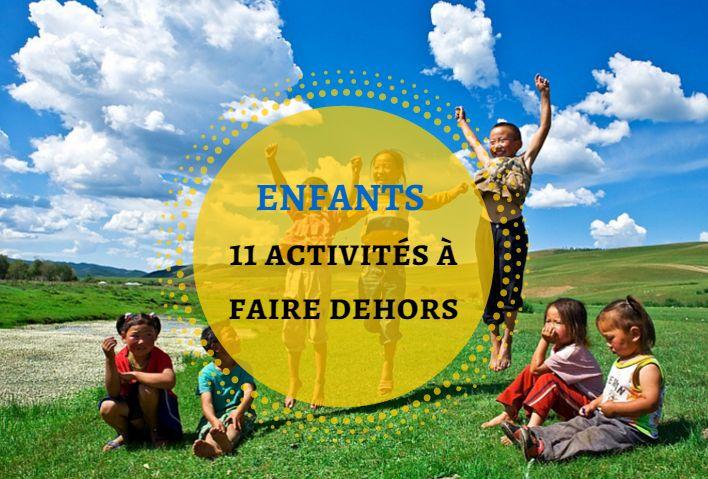 [ENFANTS] 11 activités à faire dehors.  « […] Les enfants vivent très éloignés de la nature, et rares sont pour eux les possibilités d'entrer en rapport intime avec elle et d'y puiser des expériences directes. » – Maria Montessori