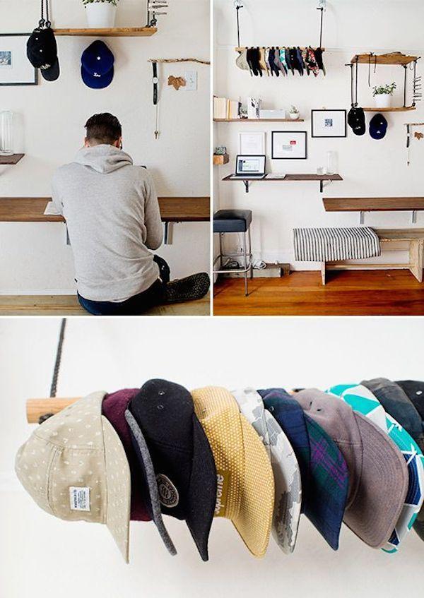 Best 25 baseball cap rack ideas on pinterest hat racks for Hat storage ideas