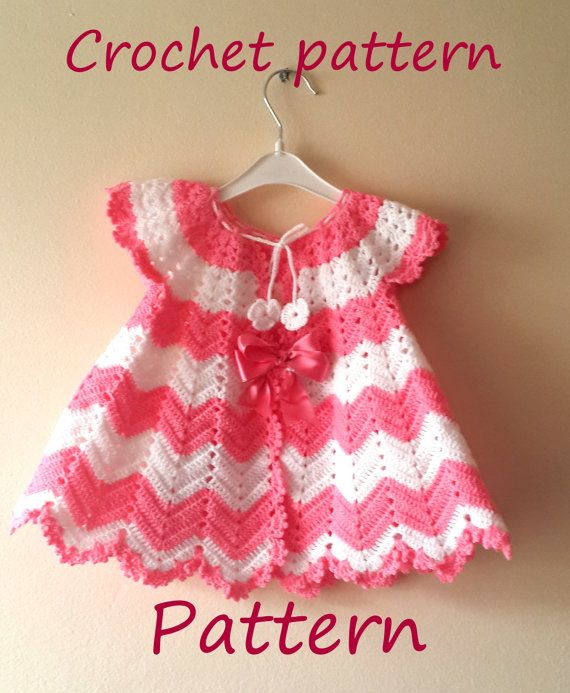 CROCHET PATTERN Baby Girl Crochet Dress by SandraHandmadeShop