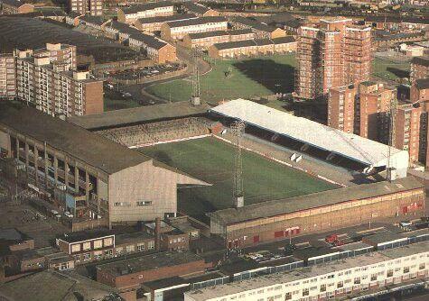 Upton Park, West Ham in the 1970s.