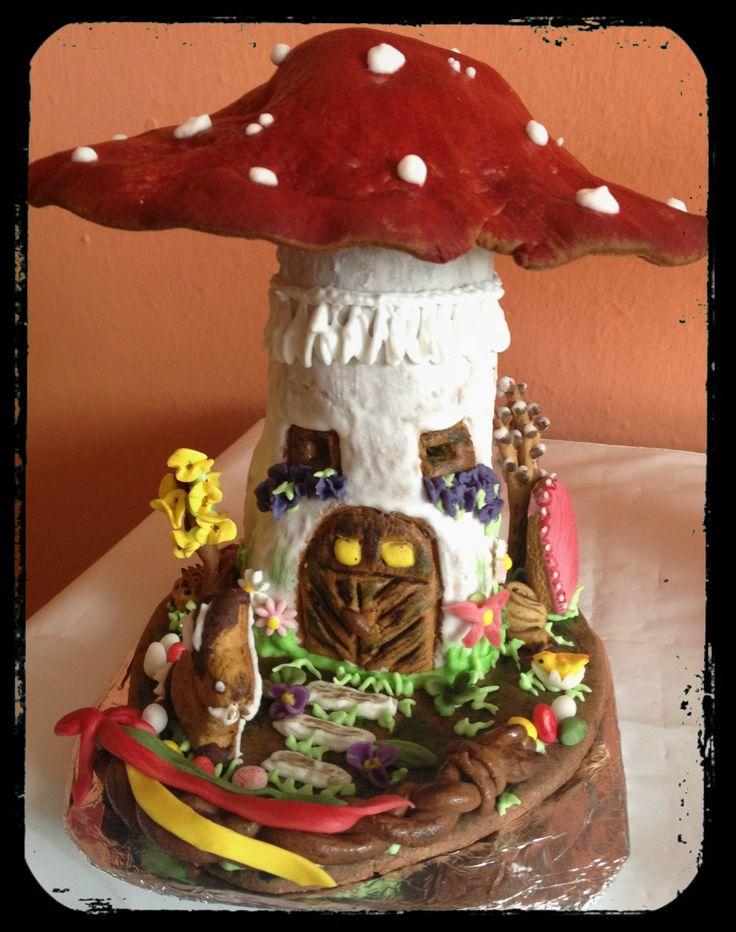 Gingerbread Mushroom House