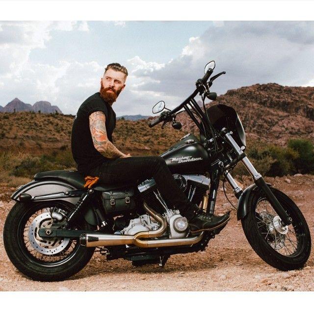 Levi Stocke - full thick red beard bearded man men mens' style clothes model fashion beards ginger redhead biker motorcycle bikers #beardsforever #beardsonwheels