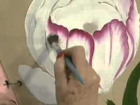 Pinturas Florais - Pintura a óleo - Tulipa - YouTube