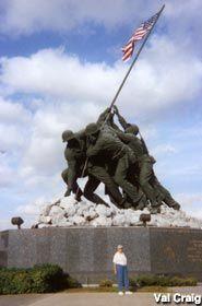 Original Iwo Jima Memorial and Museum, Harlingen, Texas - the original full-size plaster model of the famous bronze sculpture in Washington, D.C.