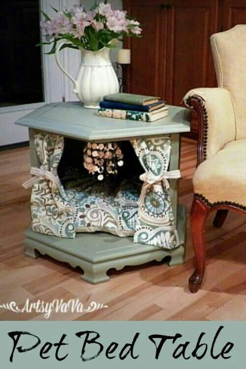 Pet Bed from end table