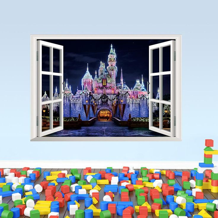 Exotic Beach View 3d Window Decal Castle Wall Sticker Home Decor Art Wallpaper Mural From Flylife, $4.19 | Dhgate.Com