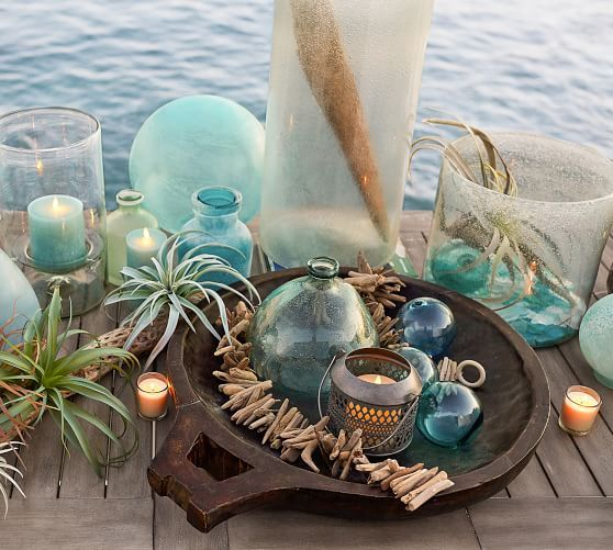 Seaglass Globe Luminary