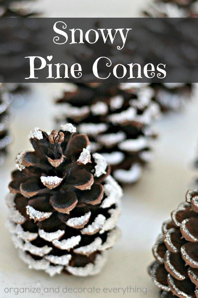 Snowy Pine Cones (4 Ways)