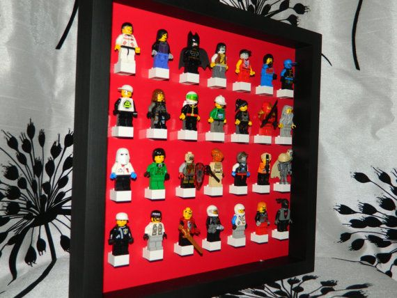 Handmade Display case for LEGO minifigure by MissIrisCreations, $25.99