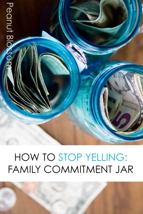 How to Stop Yelling: Making a Family Commitment Jar *interesting idea. saving this for later.