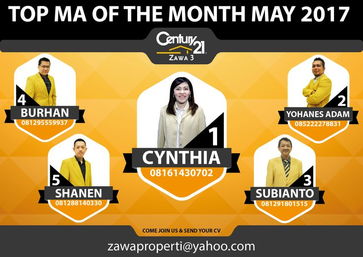 "TOP MA OF THE MONTH CENTURY 21 ZAWA 3 ""MAY 2017"""
