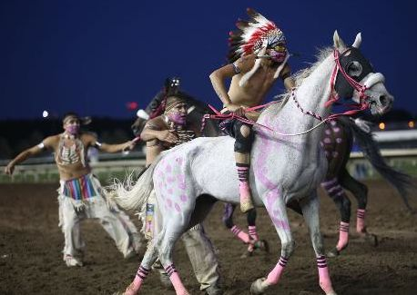 Bareback Jockeys Shock and Awe at First Indian Horse Relays Ride bareback for a quarter-mile (after traveling close to Kentucky-Derby-like s...