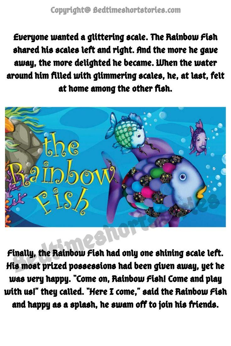 The Rainbow Fish Story In 2021 Rainbow Fish Story Rainbow Fish Good Moral Stories