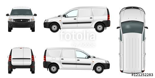 "Download the royalty-free vector ""White minivan template. Blank vector delivery van."" designed by Yuri Schmidt at the lowest price on Fotolia.com. Browse our cheap image bank online to find the perfect stock vector for your marketing projects!"
