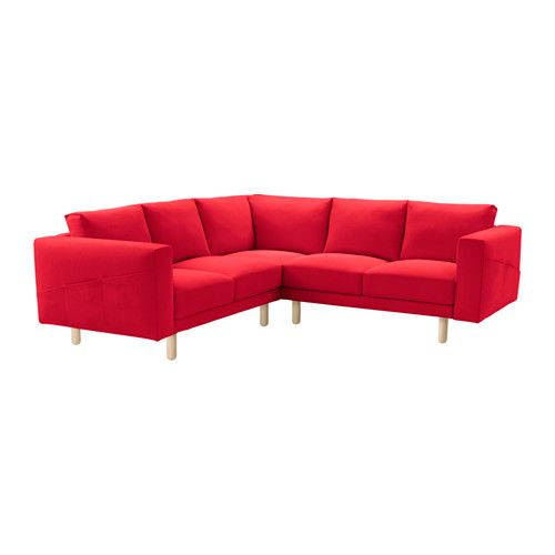 IKEA NORSBORG Corner sofa 2 2 cover Finnsta red The cover is easy to keep clean as it is removable and can be machine washed.