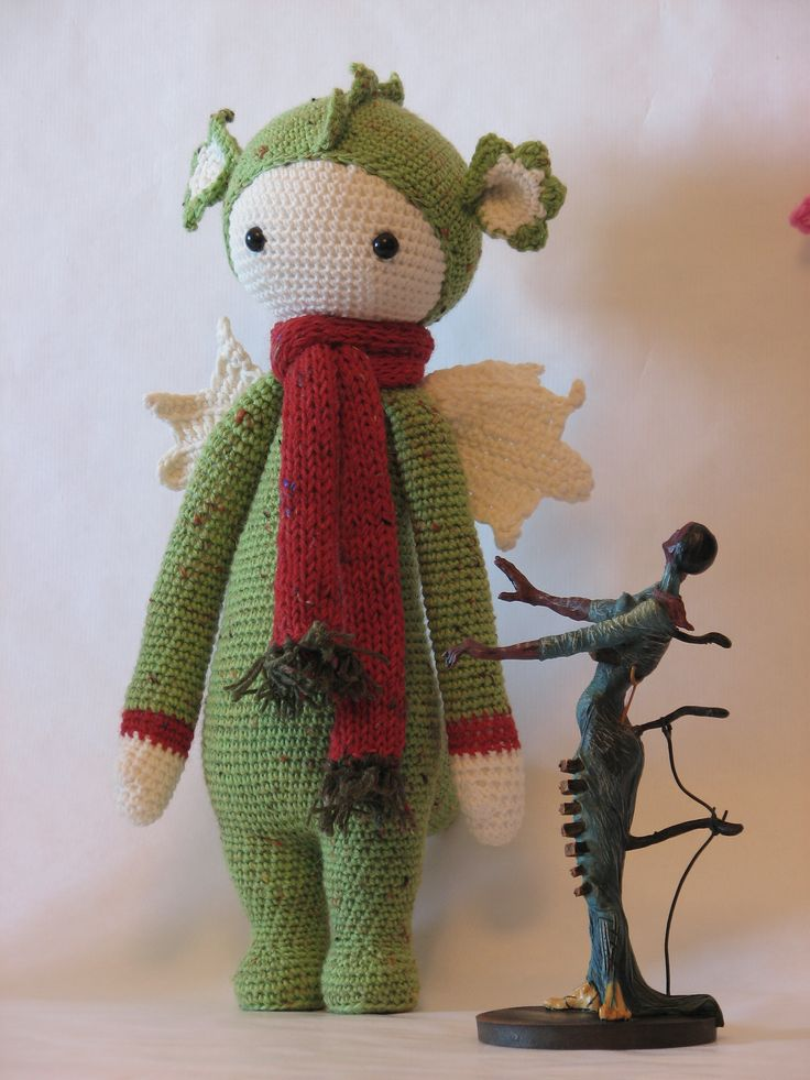 DIRK the dragon made by Mar L. / crochet pattern by lalylala