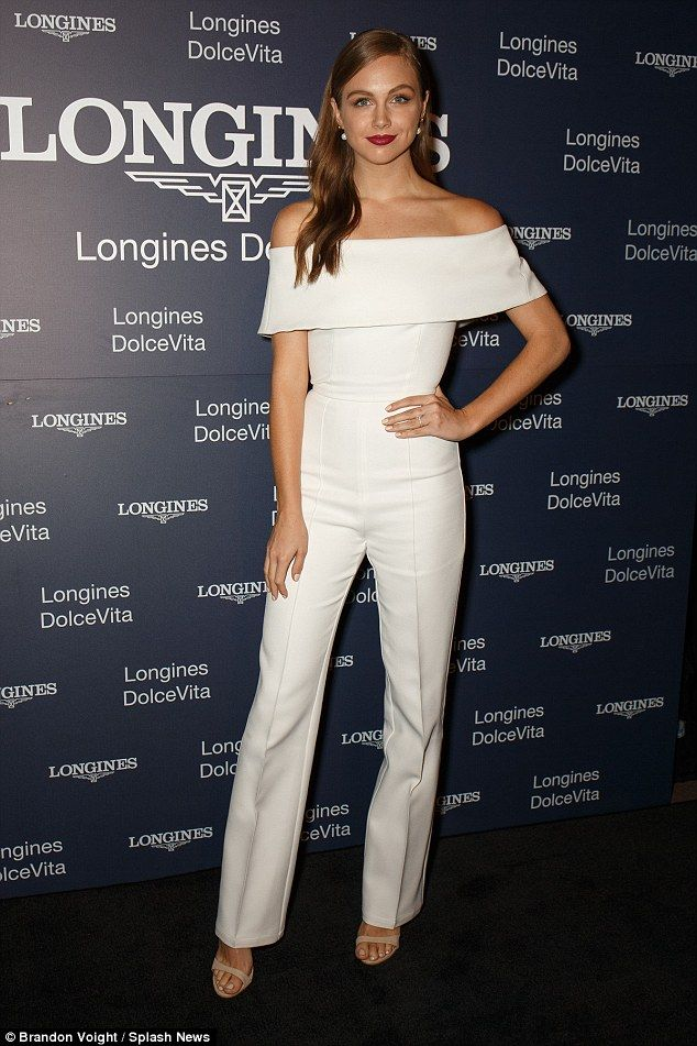 White on the mark:E! Australia host Ksenija showed off her stunning figure in a similar white jumpsuit from Mischa Collection